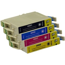 Pack Tinteiro Compativel EPSON T0551, 552, 553, 554