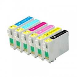 Pack Tinteiro Compativel EPSON T0791, 792, 793, 794, 795, 796