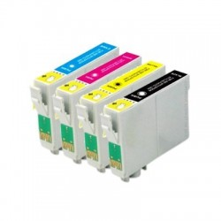 Pack Tinteiro Compativel EPSON T1301, 1302, 1303, 1304