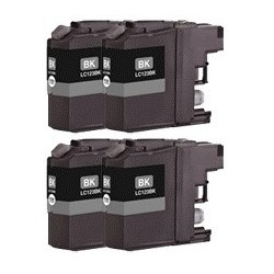 Pack Tinteiros Compativeis BROTHER LC 123BK X 4