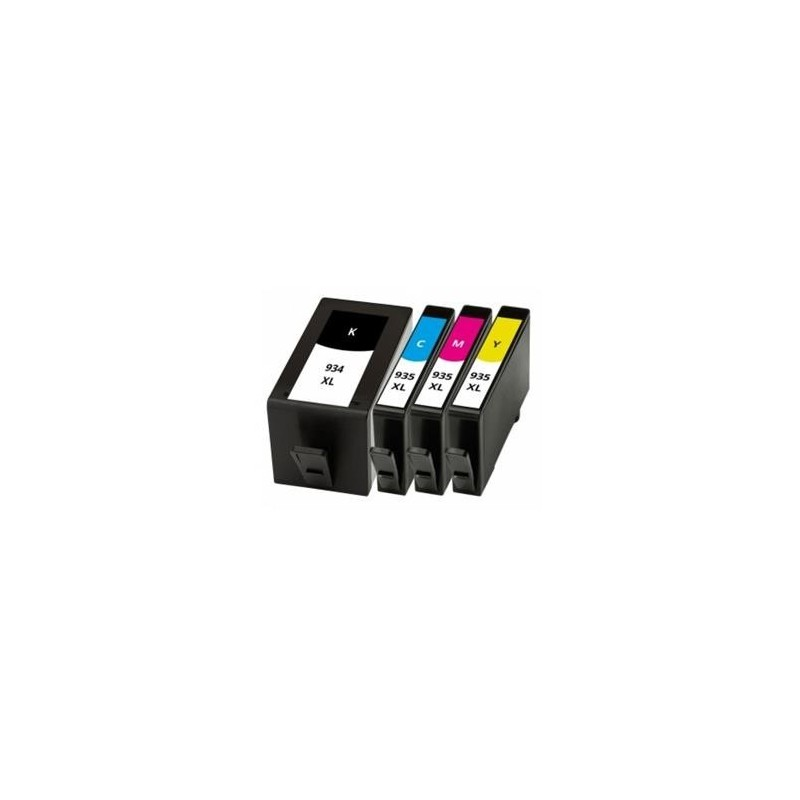 Pack Tinteiros Compativel HP 934XL + 3 x 935 XL